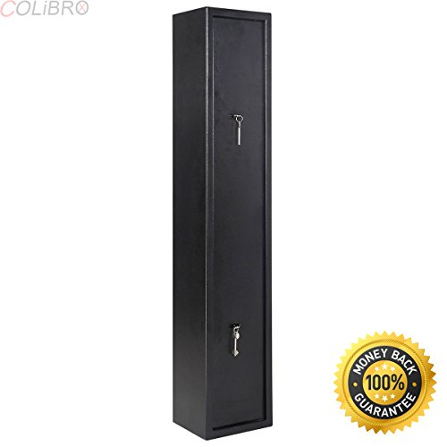 COLIBROX--2 Key 3 Gun Rifle Storage Cabinet Case Safe Rack Pistol Wall Shotgun Security. 2-point locking system lock for greater security Individual lock for the ammo box. by COLIBROX