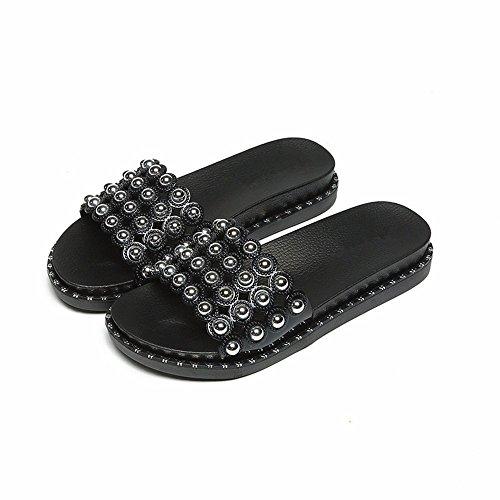 ciabatte spesso leisure traspirante antislittamento scarpe a donna outdoor pantofole YMFIE Estate punta fashion soft piscina fondo n07A0Swq1