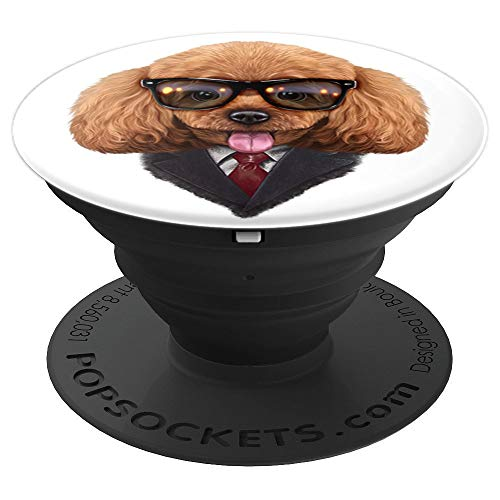 Dandy Toy Poodle Dog wearing Sunglass and Posh Suit PopSockets Grip and Stand for Phones and Tablets