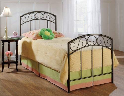 Hillsdale Furniture 299BTWR Wendell Bed Set with Rails, Twin, Copper ()