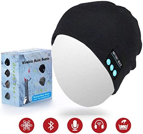 Sunnywoo Bluetooth Beanie Hat, Wireless Smart Headphone Premium Knit Cap with Speaker Mic, Unisex Headset Musical Cap for Outdoor Sports