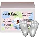 Luna Bean Infant Plaster Statue Casting Keepsake Kit - Cast Baby Hand & Foot (Pearl)