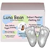 Luna Bean Infant Plaster Statue Casting Keepsake Kit - Cast Baby Hand & Foot (0-9M) (Pearl)