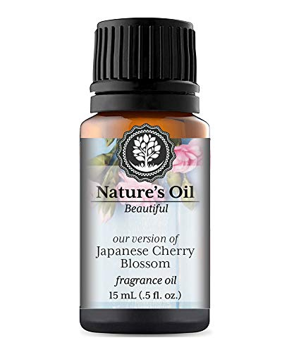 Japanese Cherry Blossom Fragrance Oil (15ml) For Perfume, Diffusers, Soap Making, Candles, Lotion, Home Scents, Linen Spray, Bath Bombs, Slime ()