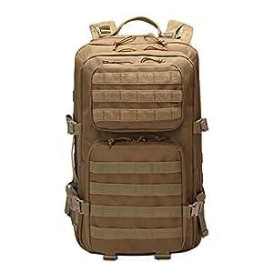 YangYS Táctica Militar Molle Mochila, Paquete de Asalto Grande 50L, 3 día Supervivencia Bug