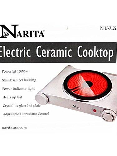 Narita Portable Ceramic Infrared Cooktop NHP-715S ,(Single Burnner) - Cook Infrared Burner