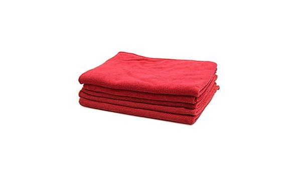 Amazon.com: eDealMax 5pcs 250GSM 65 x 33cm Rojo multifuncional de microfibra de coches Lavado de toallas de limpieza: Automotive