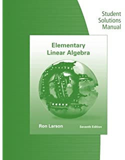Multivariable calculus chapter 11 18 jon rogawski 9781429231930 student solutions manual for larsonfalvos elementary linear algebra fandeluxe Gallery