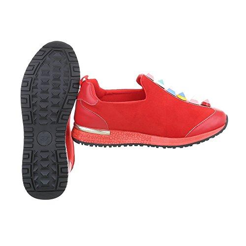 Sneakers Chaussures Plat Mode Espadrilles Low Baskets Ital Design Femme ZTBROR
