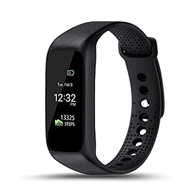 LEMFO L30T Wearable Waterproof Heart Rate Monitor Wirless Fitness Tracker Sport Wristband with Multi-Functions Activity Smart Bracelet Band Pedometer Watch for Andriod and iOS