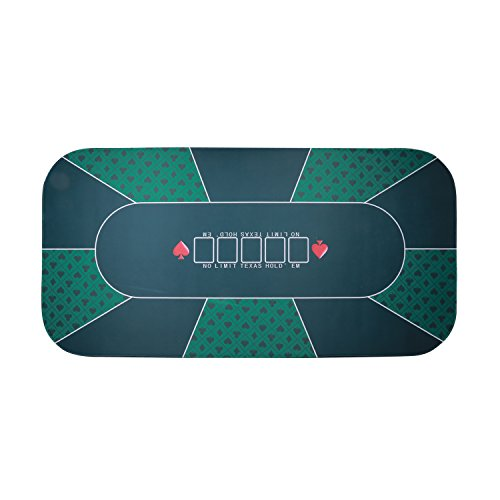 Firstand Professional Sure Sick Rubber Foam Poker Table Top Layout for Up to 8 Players to Play Cards Poker Mat - Green by Firstand