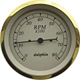 Dolphin Gauges-5'' Electronic Tachs - Gold