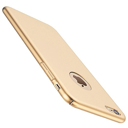 iphone 7 Case, ACMBO(TM) Ultrathin Micro Matte [SKIN TOUCH FEEL] Metallic Texture Anti-Fingerprints Non-slip No-fade Shockproof PC Phone Case Cover For iPhone7 4.7 inch, Gold