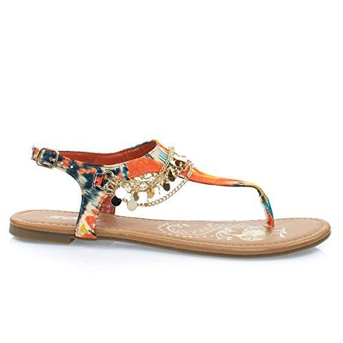 multi colored sandals - 1