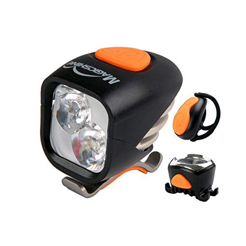 Magicshine MJ 902, 1600 Lumens Bike Light Set, Wireless Remote Bicycle Lights Front and Rear Combo, Rechargeable 2 CREE XM-L2 LED Bike Tail Light, Portable Convenient Bright Bike Light