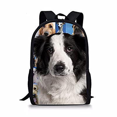 Showudesigns Gray Printing Animal Pet Dog Backpack School Bag For