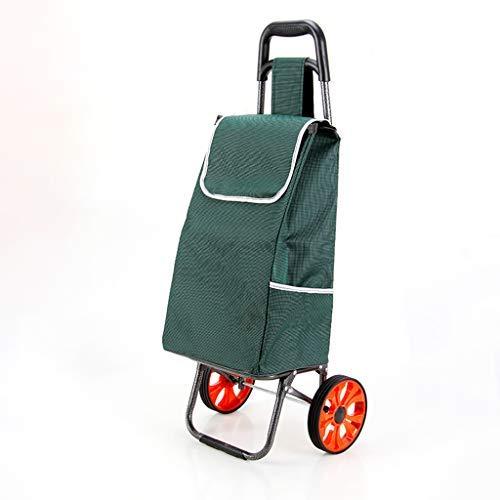 ショッピングカートのトロリー、食料品の買い物カゴ、折りたたみ式トロリー、ラゲージカートのトレーラー、ポータブルスモールカート(カラー:A) B07SCZR8NB A