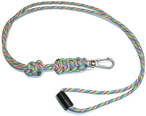 - RedVex Paracord Cobra Neck Lanyard with Safety Break-Away and Adjuster - Metal Clip - Choose Your Color and Size-Tye Dye-22
