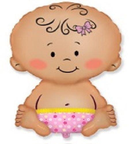 LoonBalloon BABY GIRL Shape Gender Reveal DIAPER 27