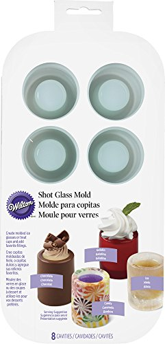 Wilton-570-0118-8-Cavity-Round-Silicone-Shot-Mold-Green