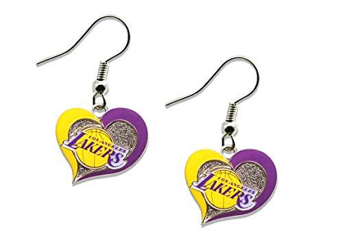- NBA Los Angeles Lakers Swirl Heart Earrings