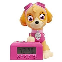 BulbBotz Girl's 'Paw Patrol Skye' Alarm Clock, 5.5, Color:Pink (Model: 2021760)