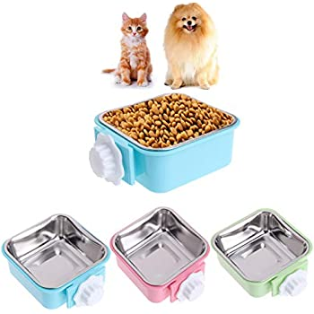 6d0903db7c Amazon.com   PETLESO Water Bowl for Dog Crate - Crate Water and Feed ...