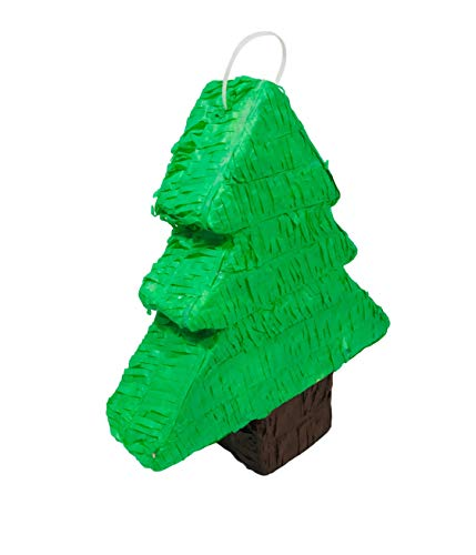 Classic Christmas Pine Tree Pinata | Complete Your Ugly Sweater Themed Party | Holiday Posada Decor Supplies | 16 x 13 x…