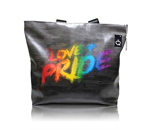 Qbags, Borsa A Tracolla Da Donna Multicolore Amore & Orgoglio 49x42x18 Cm