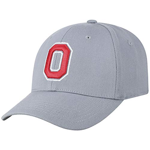(Top of the World NCAA-Premium Collection-One-Fit-Memory Fit-Hat Cap (Ohio State Buckeyes-Grey, One Size Fits Most) )