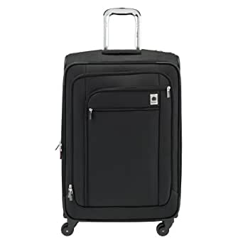 Delsey Luggage Helium Sky 25 Inch Expandable Spinner Suiter Trolley, Black, One Size