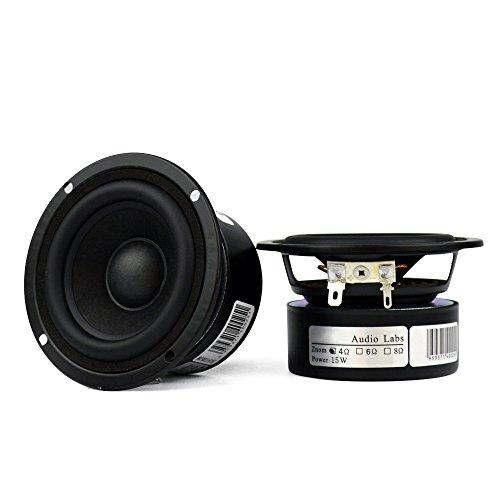 Pack of 2 Full Range Bookshelf Speaker, 3 Inch 8 Ohm Anti-magnetic HiFi Tweeter Wooden Enclosure Home Audio Woofer Multimedia Speakers (8Ω) by Facmogu