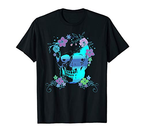 Skull and Flowers, Halloween, Rave, Concert -