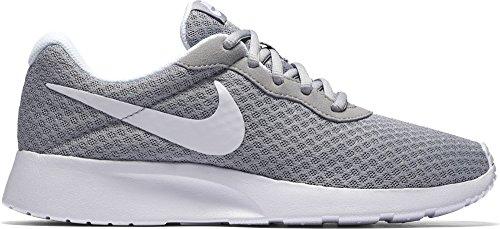 Nike Womens Tanjun Running Sneaker Wolf Grey/White 8.5