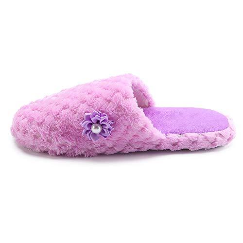 Porpora Scarpe Calde ASHOP Casa Donna Sneakers Infradito Chiuso Anti Donne Al Autunno e Scarpe Le Solide Invernale Scivolo Donna Tacco Scarpe Pantofole inverno XBFw6wqx