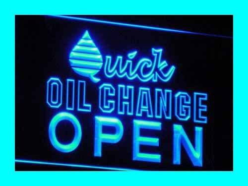 OPEN Quick Oil Change Car Repair LED Sign Neon Light Sign...