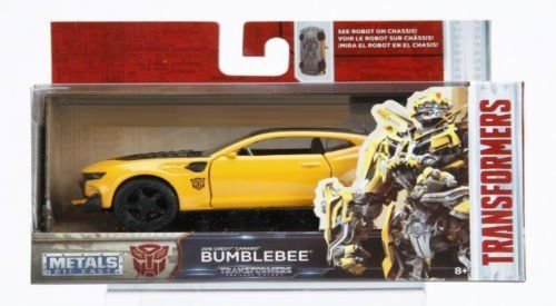 NEW 1:32 JADA TOYS COLLECTOR'S SERIES TRANSFORMERS - TRANSFORMERS 5 BUMBLEBEE YELLOW 2016 CHEVROLET CAMARO Diecast Model Car By Jada Toys