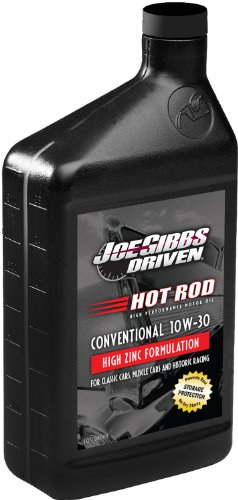 Joe Gibbs Driven Racing Oil 02007 HR-2 10W-30 Conventional Hot Rod Oil - 1 Quart Bottle, Case of 12