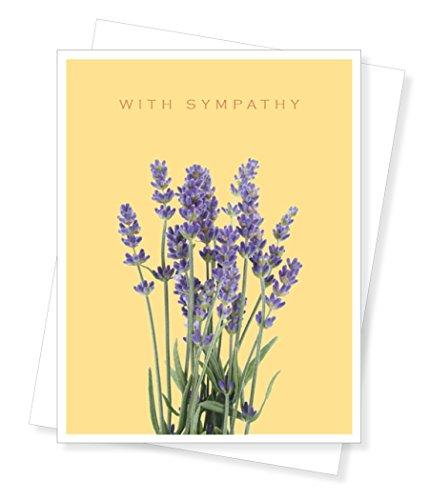 D119N Lavender Sympathy Condolences-Single Greeting Card