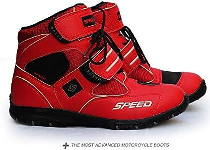 MeterMall Moto Souple Bottes Motard /étanche /à leau Bateaux /à Moteur Hommes Bottes de Motocross Moto antid/érapante Chaussures Noir 8.5