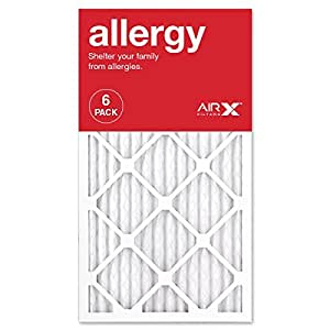 AIRx ALLERGY 14x25x1 MERV 11 Pleated Air Filter - Made in the USA - Box of 6