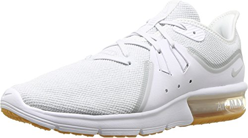 (Nike Men's Air Max Sequent 3 Running Shoe White/Pure Platinum Size 10.5 US)