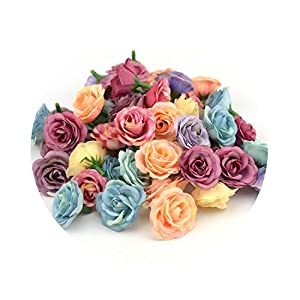 YP-fashion 10pcs 3cm Mini Rose Cloth Artificial Flower for Wedding Party Home Room Decoration Marriage Shoes Hats Accessories Silk Flower 24