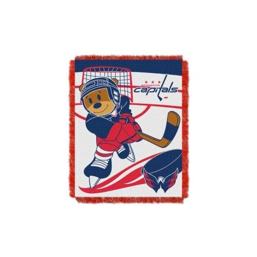 (The Northwest Company Officially Licensed NHL Washington Capitals Score Woven Jacquard Baby Throw Blanket, 36
