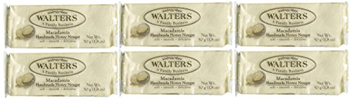 Walters Homemade Honey Macadamia Nougat, 2-Ounce Packages (Pack of 6)