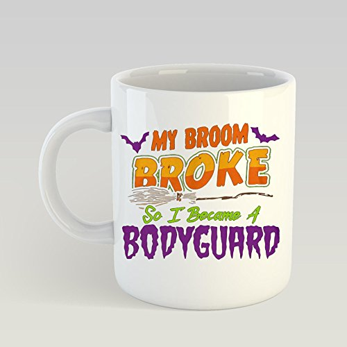 SAYOMEN Bodyguard Haloween Funnyshirt MUG 11ozFunny Coffee Mug, Feminist Mug, Unique coffee mug, Ceramic coffee mug, Gift for Men or Women, Cool Brother Gift Ideas. ()