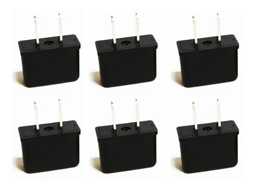 Ceptics UP-6US CE Certified Europe Asia to USA Plug Adapter