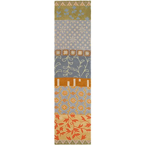 Collection RD622M Handmade Multicolored Wool Runner (2'6