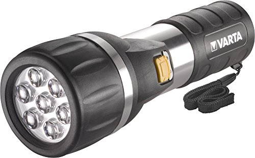 Varta LED Day Light - Taschenlampe (inklusive 2D) Drei-Komponenten-Gehäuse spritzwassergeschützt