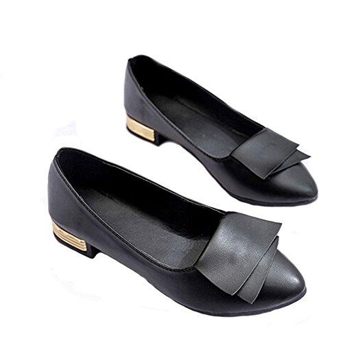 DELLIN Damen Nude Shallow Mouth Sommer Mode Casual Tanzschuhe Pumps Datum Thin Heels Shoes Elegant Ladies Office Work Hochhackige Schuhe Schwarz
